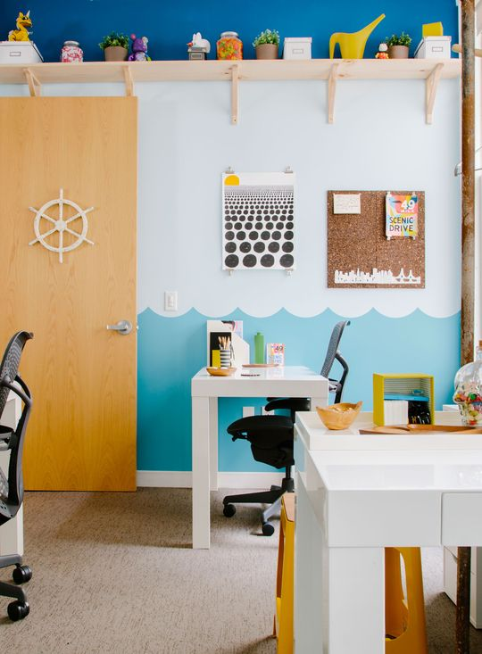 Parsons Desks from west elm in the Pacific Helms office