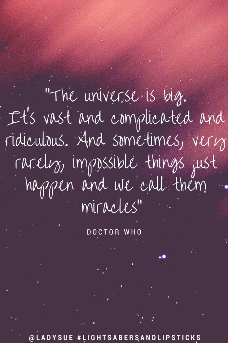Magical Moment Monday| Doctor Who Quote