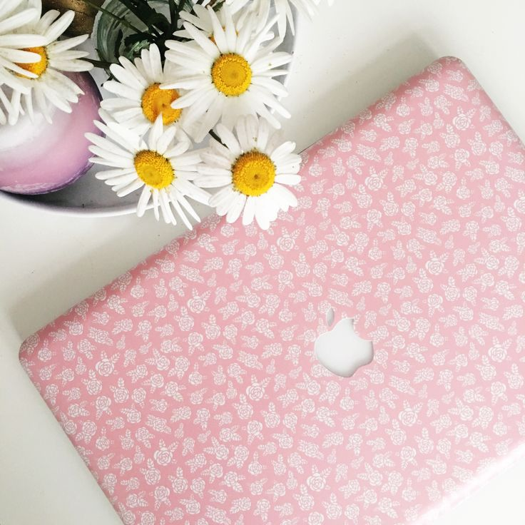 Rosy rose MacBook Case Design.  Get this very feminine look for your laptop with our Rosy Macbook case. To view the full collection, visit the store.