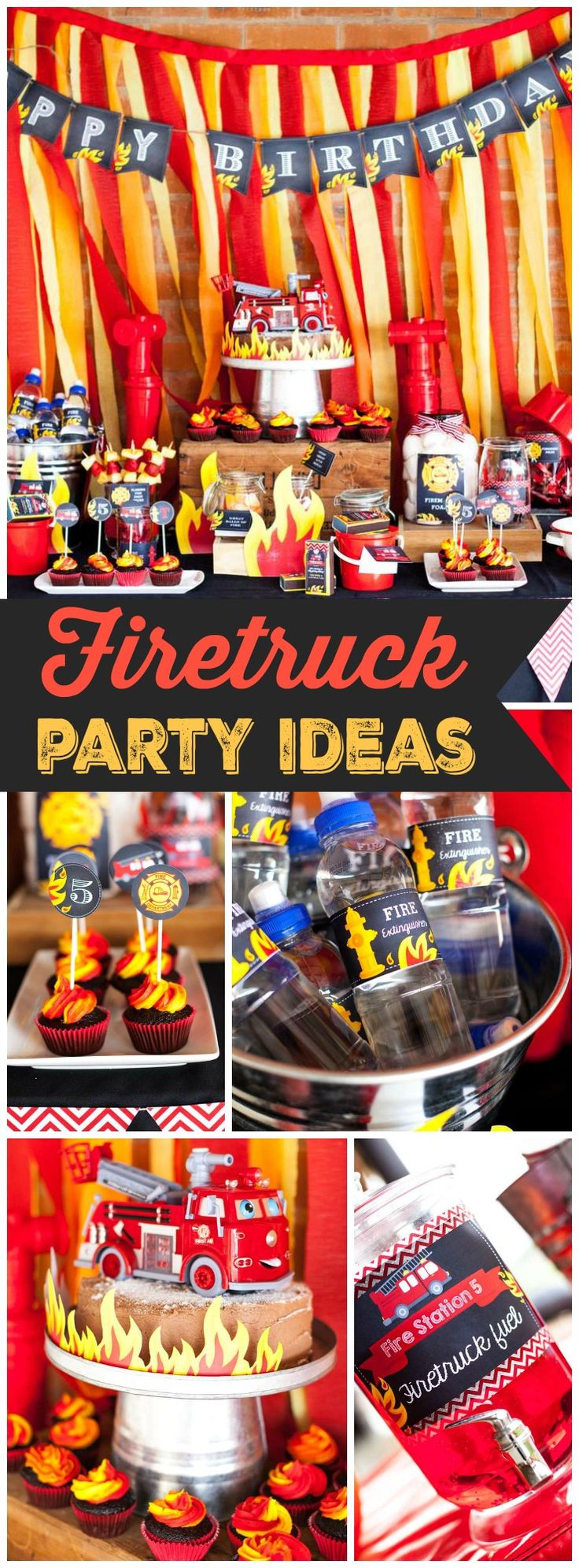 8 Best Fire Truck Firefighter Birthday Party Ideas Images On