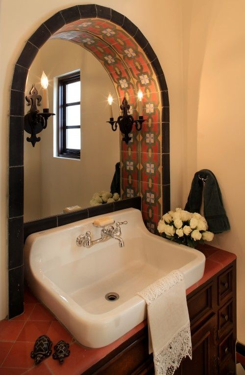 Latino Living: Mexican At Lye Bathroom, I Want My Bathroom Like This.  Spanish Style BathroomsSpanish BathroomMediterranean ... Part 81