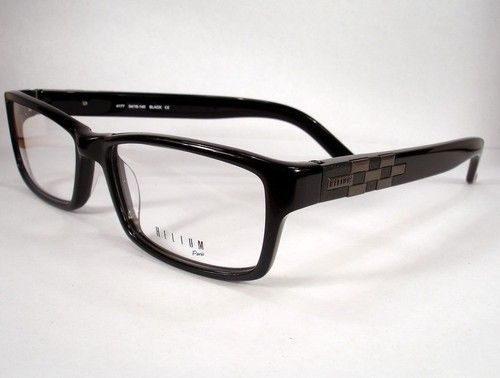 helium paris 4177 black men eyeglass eyewear frames glasses designer new