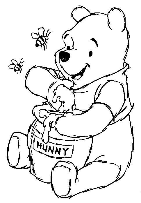 winnie the pooh coloring pages winnie_the_pooh_coloring_pages_008 - Pooh Bear Coloring Pages Birthday