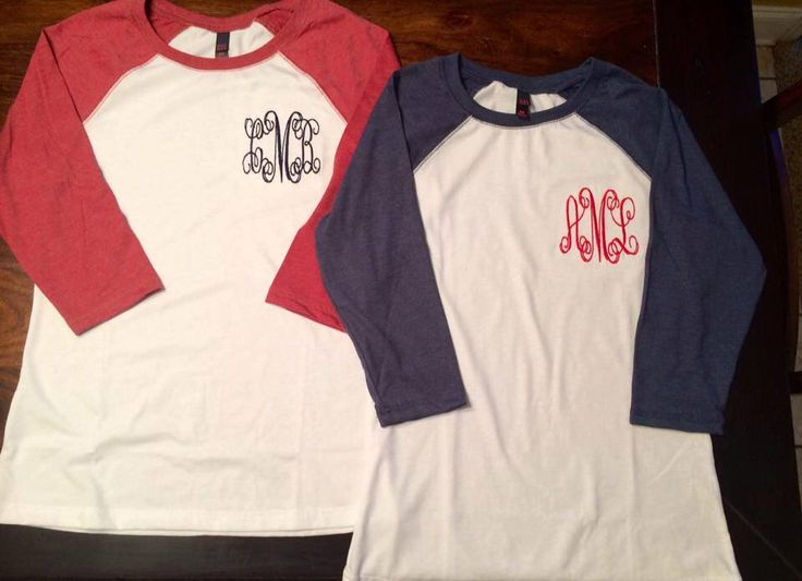 Custom Monogrammed Baseball Tees for Women and Teens by Wee3busybees on Etsy https://www.etsy.com/listing/200974740/custom-monogrammed-baseball-tees-for