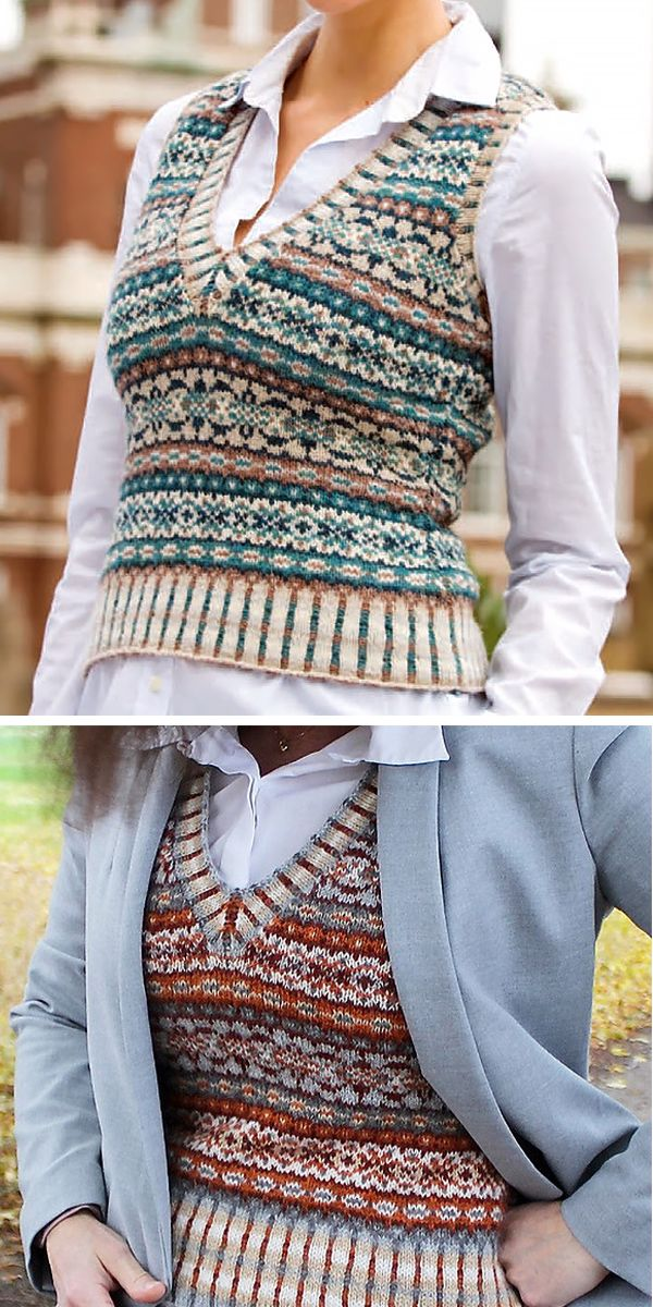 Free Knitting Pattern for Ivy League Vest – Play w…