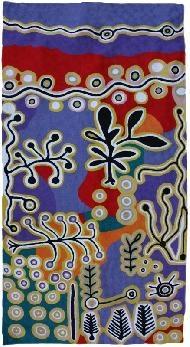 Better World Arts: Rugs - Wool Gallery - Paddy Stewart from Warlukurlangu Design 504