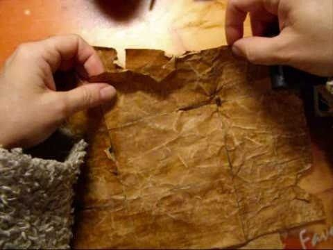 How to Make paper look 200 years old using coffee