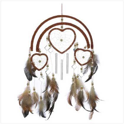 ✯ Heart Windchime Dreamcatcher :: Etsy Shop AdornYourselfJewelry ✯