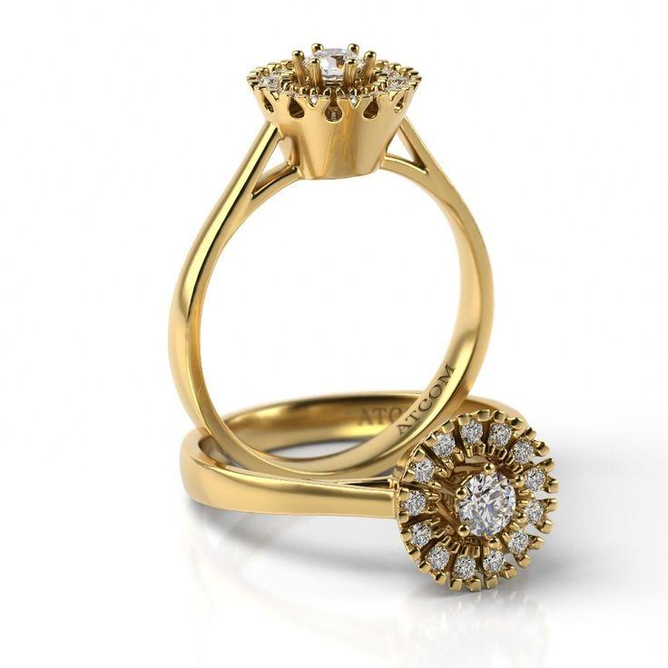 Inel de logodna Angelo aur galben