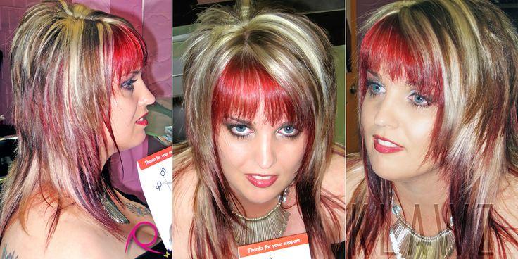 Long Hair - Chocolate Brown, Blonde & Red Panels