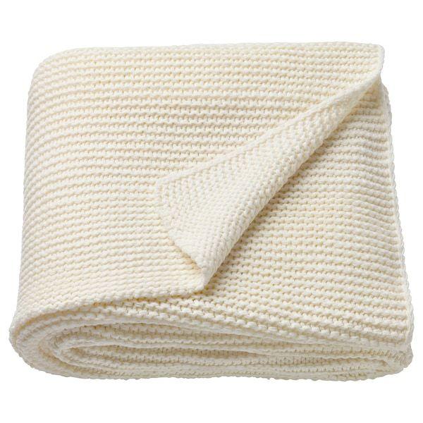 Ingabritta Plaid Blanc Casse 130x170 Cm Plaid Blanc Ikea Et Plaid Tricot