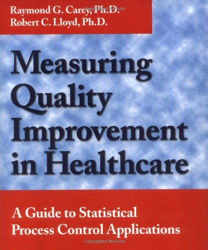 Measuring Quality Improvement in Healthcare: A Guide to Statistical Process Control Applications  Used Book in Good Condition