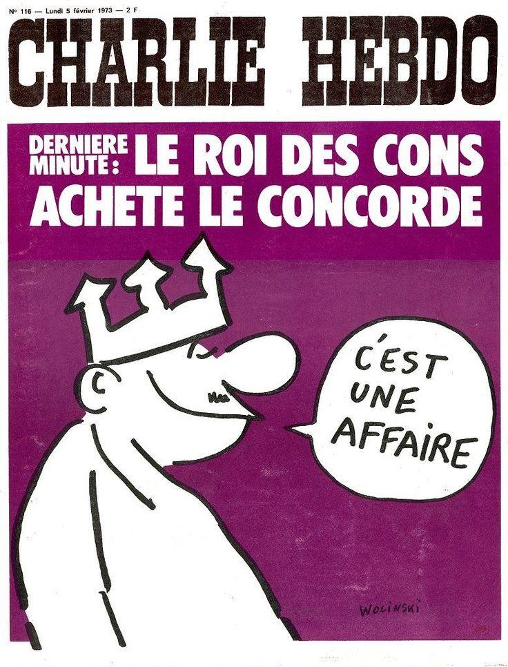 Charlie Hebdo - # 116 - 5 Février 1973 - Couverture : Wolinski