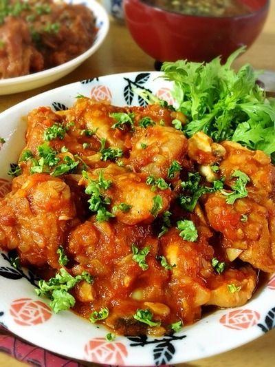 チキンカチャトーラ。(チキンのトマト煮込み) by Misuzuさん | レシピ ...