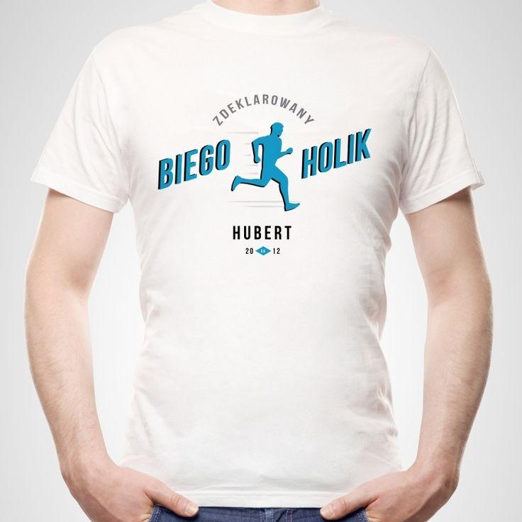 Koszulka personalizowana męska BIEGOHOLIK