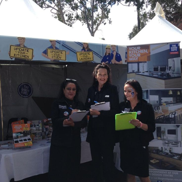 A few of our lovely Kitchen experts ready to help out at  #TheBlockOpenForInspection!