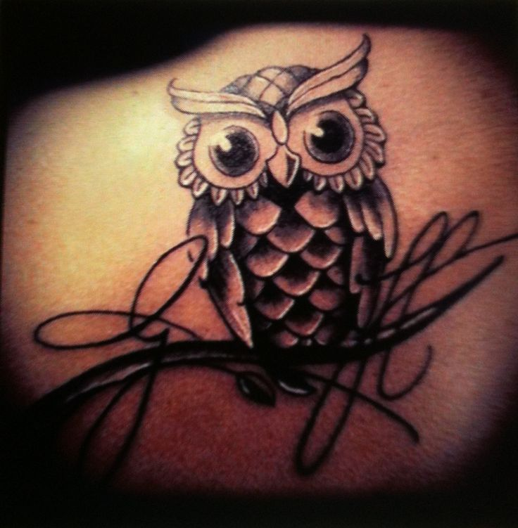 #owl #tattoo. Would like a little color