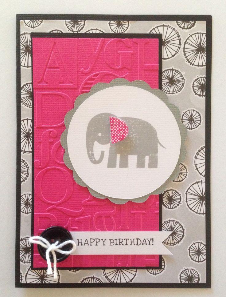 Elephant Circle Card