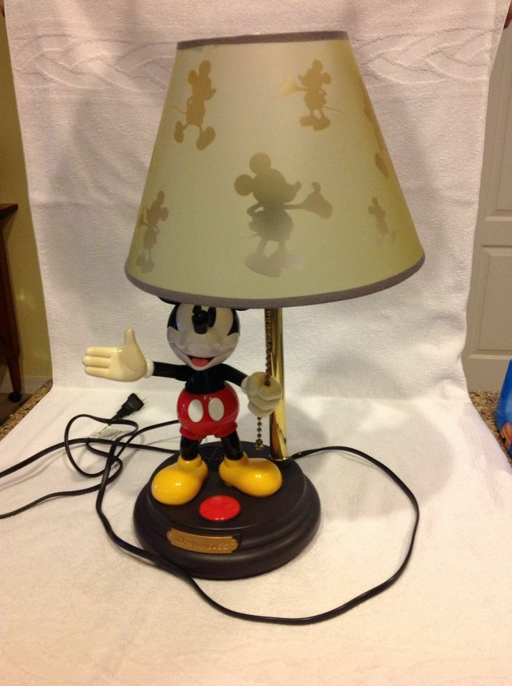 mickey mouse animated lamp mickey mouse collectibles. Black Bedroom Furniture Sets. Home Design Ideas