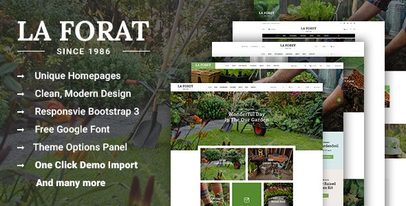 LaForat - Gardening and Landscaping WordPress Theme