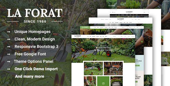 LaForat - Gardening and Landscaping WordPress Theme