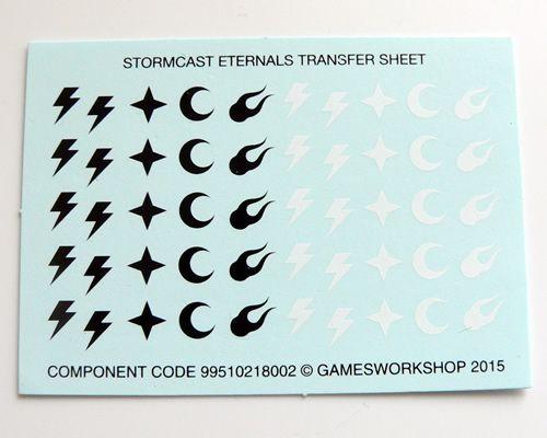 Stormcast Eternals Transfer Sheet A | Decals Banners Flags