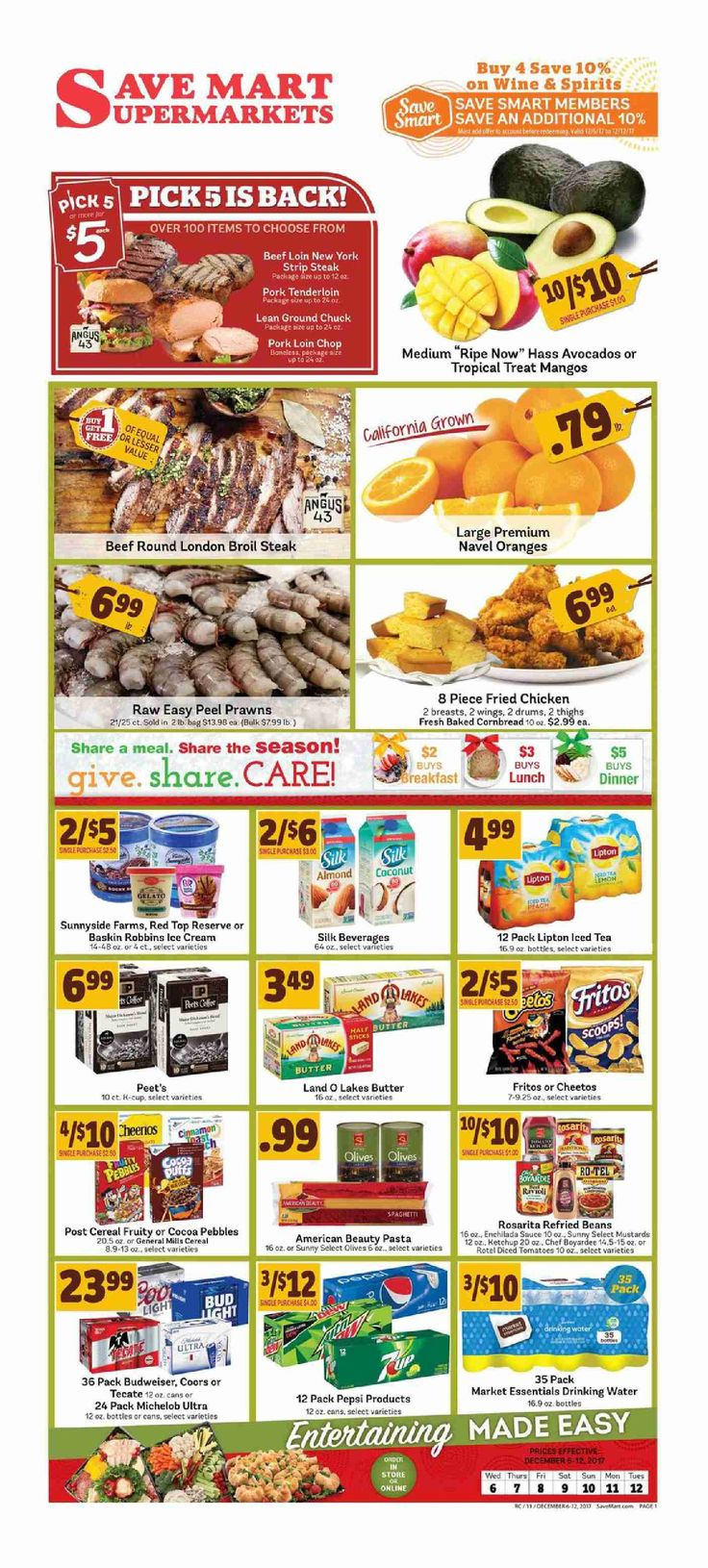 Save Mart Weekly ad December 6 - 12, 2017 - http://www.olcatalog.com/save-mart/save-mart-weekly-ad.html
