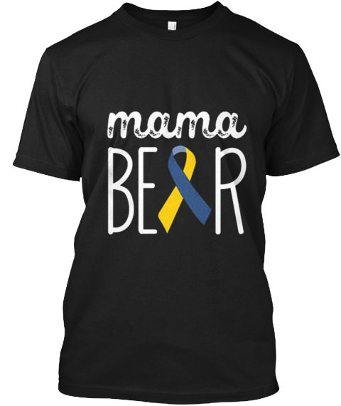 Down Syndrome Awareness Shirts Black T-Shirt Front
