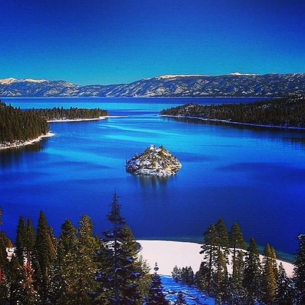 Emerald Bay State Park in South Lake Tahoe, CA is the ideal setting for a hike. You're surrounded by waterfalls and amazing views!