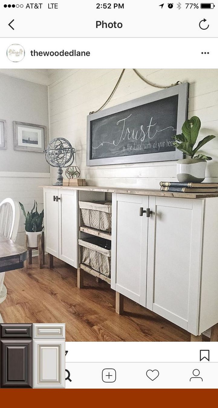Pin By Morgan Pfaff On Kitchen Cabinets In 2019 Dining