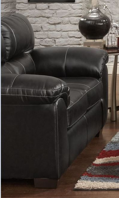 Affordable Furniture Austin Black Loveseat 5600-INV