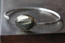 Alexis Russell — Pyrite Cuff Bracelet