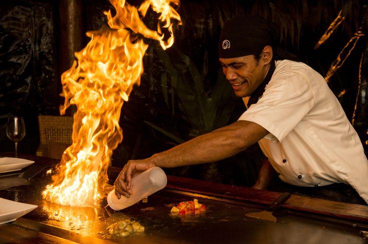 Teppanyaki at Tokoriki Island Resort! #teppanyaki #tokorikiislandresort #fiji