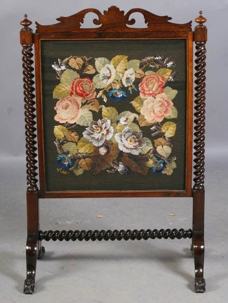 368 best Fire Screens - Antique images on Pinterest | Needlework ...