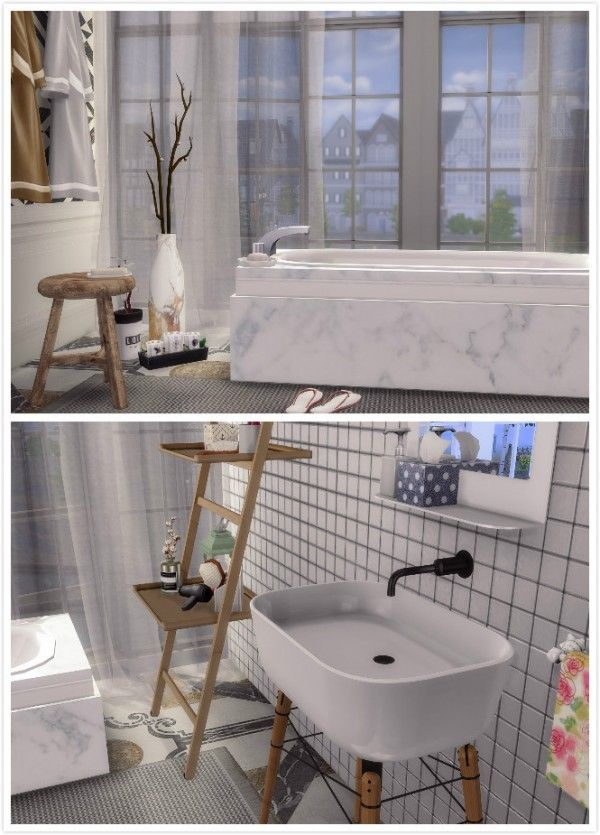 Vivian Sims Eames Bathroom Set Sims 4 Downloads Sims 4 Bedroom Sims 4 Loft Sims 4 Beds