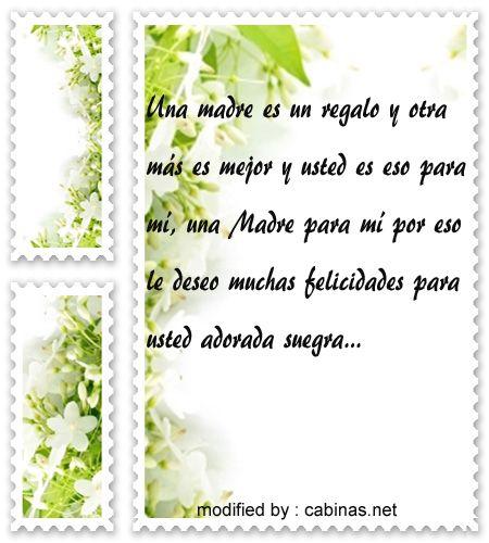 Textos Para Mi Suegra Por El Dia De La Madrepalabras Lindas