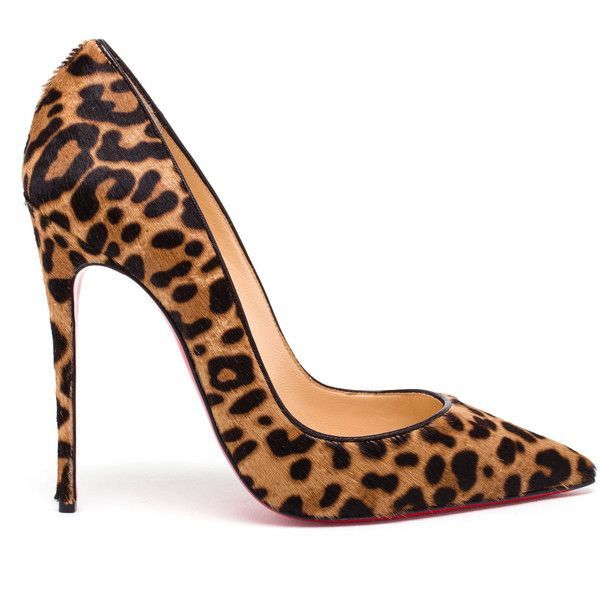 CHRISTIAN LOUBOUTIN Leopard Print Ponyskin So Kate Pumps found on Polyvore featuring shoes, pumps, high heel shoes, red wing shoes, breast pump, high heel pumps and red pointed-toe pumps