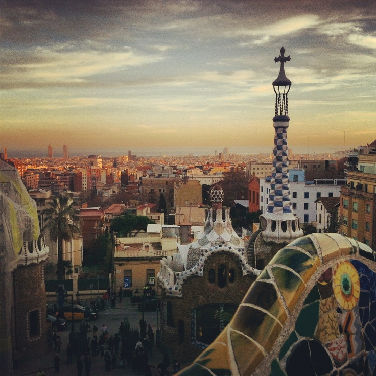 Barcelona view at sunset