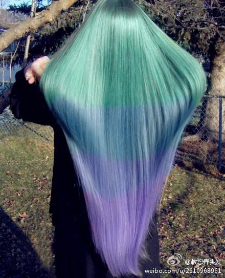 kleurrijk haar