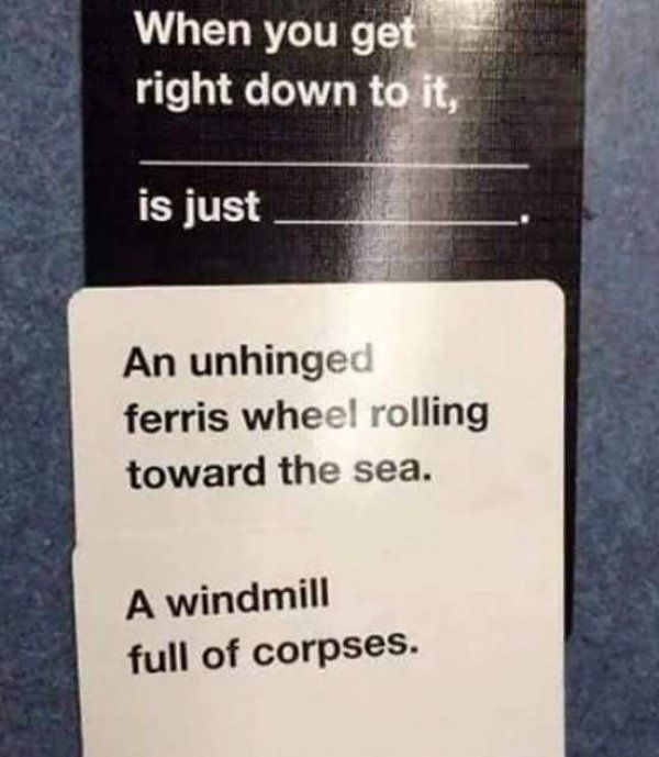15 Instant Game Winners from Cards Against Humanity