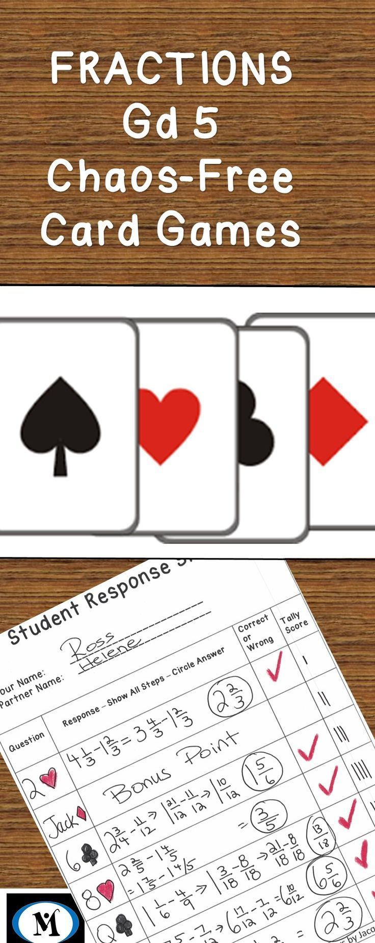 Yes, Math Games can have rigor, student accountability and be fun. Fractions 5.NF.A.1 . Subtracting Fractions, Subtracting Mixed Numbers, TGT, Teams Games Tournament, Chaos-Free Math Games great for home or school. 48 questions, students self-check the an