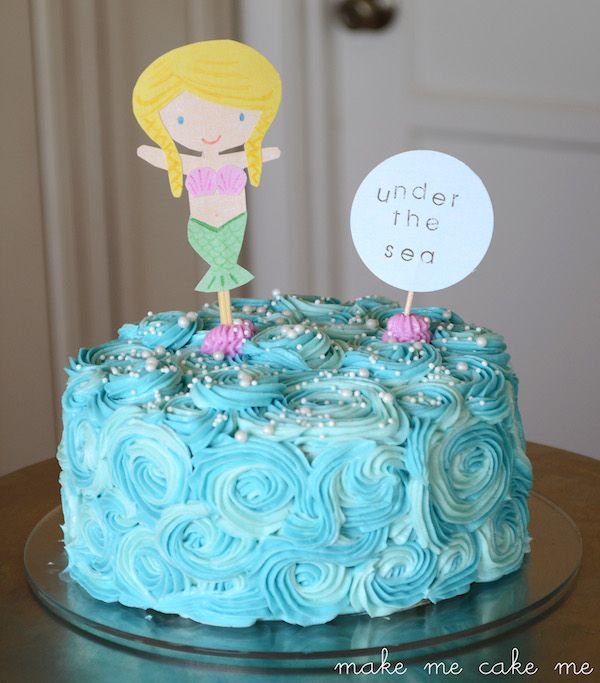 how to make a mermaid cake instructions