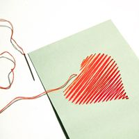 Create a Beautiful Hand-Embroidered Valentine's Day Card