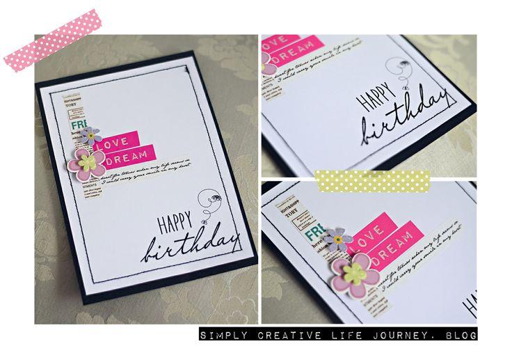 Handmade birthday card by Simply Creative Life Journey.blog
