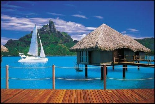 Bora Bora...beautiful! I would love to visit!!! It's on my bucket list