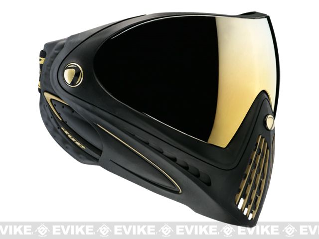 Dye i4 Pro Airsoft Full Face Mask - Black / Gold Thermal Lens, Tac. Gear/Apparel, *Head Gear, Head - Masks (Full) - Evike.com Airsoft Supers...