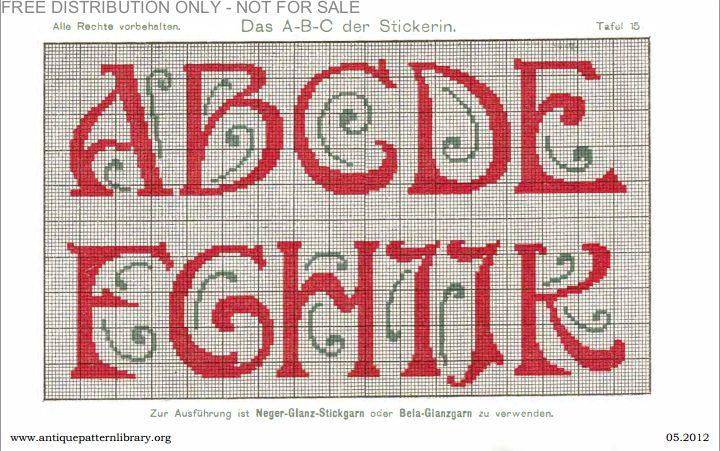 Art Deco cross-stitch Sampler pattern