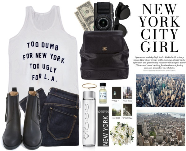 """""""NYC ESSENTIALS"""" by onlybytheocean ❤ liked on Polyvore"""