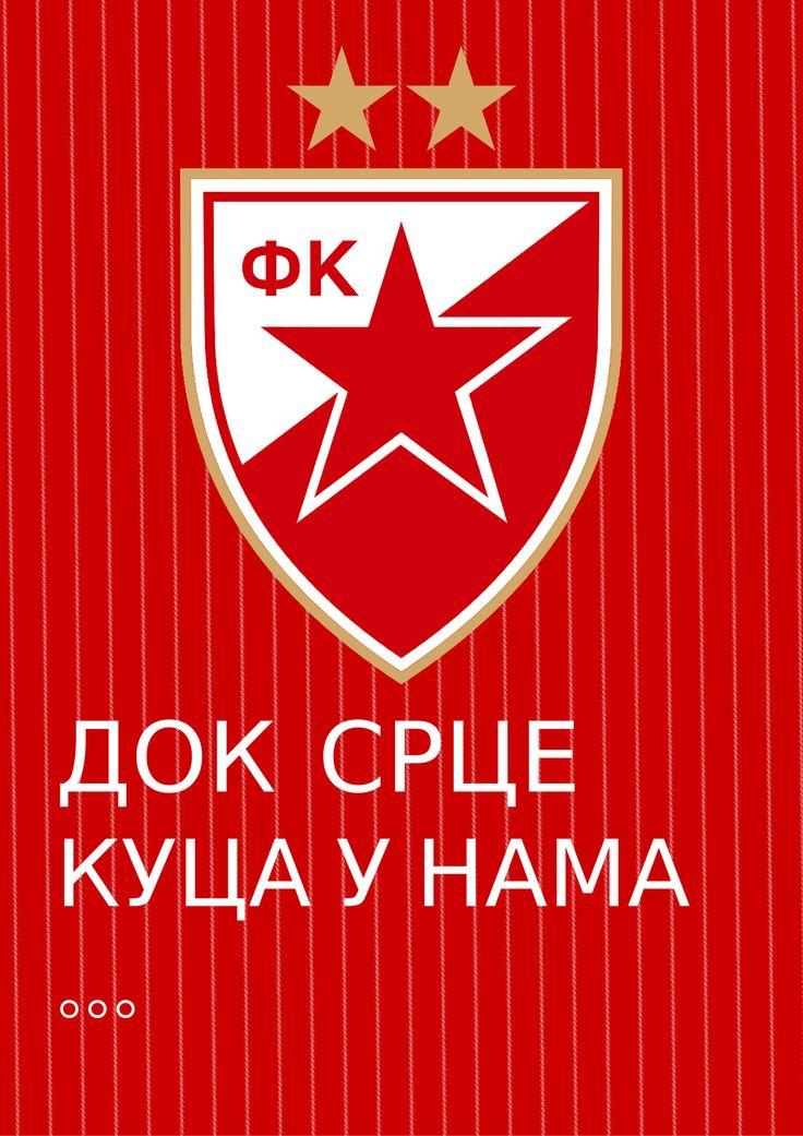 Red Star Belgrade Wallpaper, Dok srce kuca u nama, ti Zvezdo nisi sama...