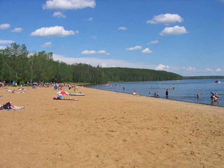 Gregoire Lake in Fort McMurray, AB. Spent MANY weekends there camping when I was a kidlet.